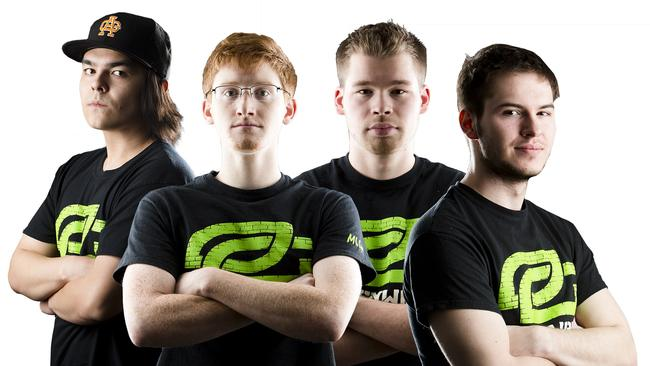 From left to right — Matthew 'FormaL' Piper, Seth 'Scump' Abner, Ian 'Crimsix' Porter and Damon 'Karma' Barlow, members of Call of Duty eSports team OpTic Gaming.