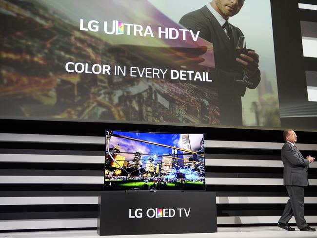 TV wars ... LG is planning to show off a 65-inch quantum dot television at its stand when the CES officially opens tomorrow.
