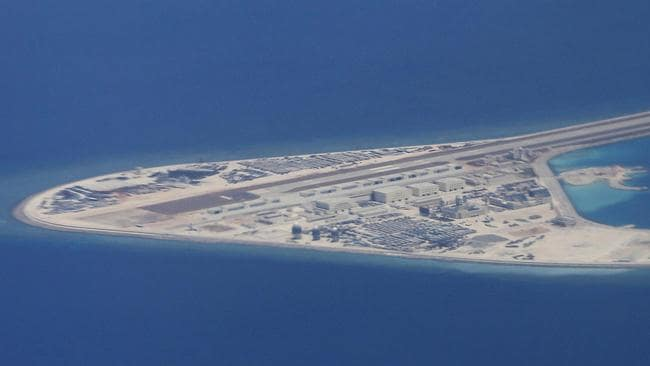 Military bases that China has built on artificial islands in the South China Sea are too small, too far from the mainland and may be of little use in a conflict. Picture: AP