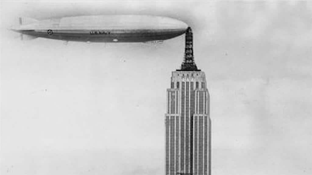 Blimps Docked on Empire State Building: True or False?