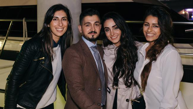 Gloria (far left) and Tania (far right) from The Proposal Co alongside the newly engaged couple, Christian and Natalie. Picture: Kurt George Photography.