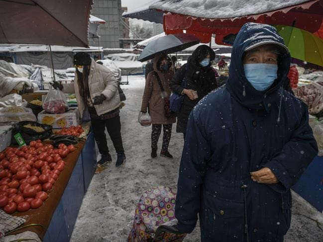 The number of those who have died from the virus in China climbed to over 636 on Thursday, mostly in Hubei province. Picture: Kevin Frayer/Getty Images