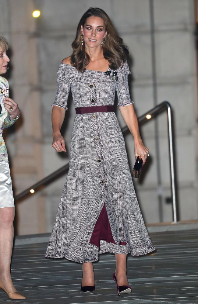 Catherine, Duchess of Cambridge, at the opening of the V&A Photography Centre at Victoria & Albert Museum. Picture: Getty Images