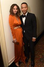 Chrissy Teigen and John Legend attend GQ and Chance The Rapper Celebrate the Grammys in Partnership with YouTube at Chateau Marmont on February 12, 2017 in Los Angeles, California. Picture: Getty