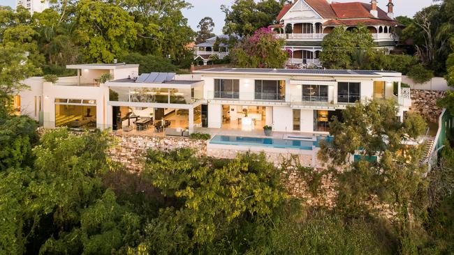 This house at 1 Leopard St, Kangaroo Point, is back on the market after selling for $18.48m.