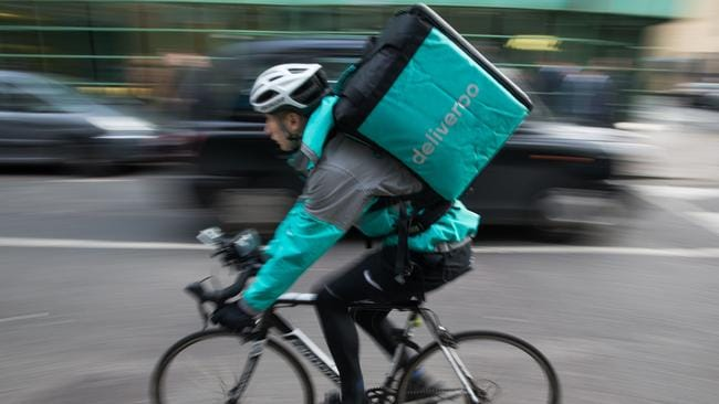Deliveroo charges upwards of 30 per cent commission. Picture: Daniel Leal-Olivas/AFP