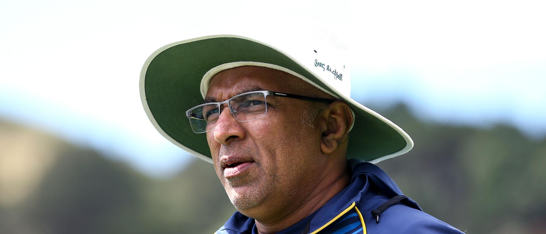 WELLINGTON, NEW ZEALAND - DECEMBER 17:  Coach Chandika Hathurusingha of Sri Lanka looks on during day three of the First Test match in the series between New Zealand and Sri Lanka at Basin Reserve on December 17, 2018 in Wellington, New Zealand.  (Photo by Hagen Hopkins/Getty Images)