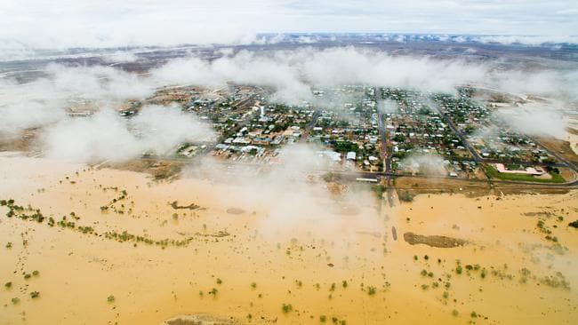 The town of Winton has seen huge amounts of flooding. Picture: Winton Shire Council