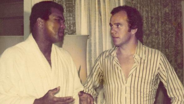 Mike Willesee with Muhammad Ali