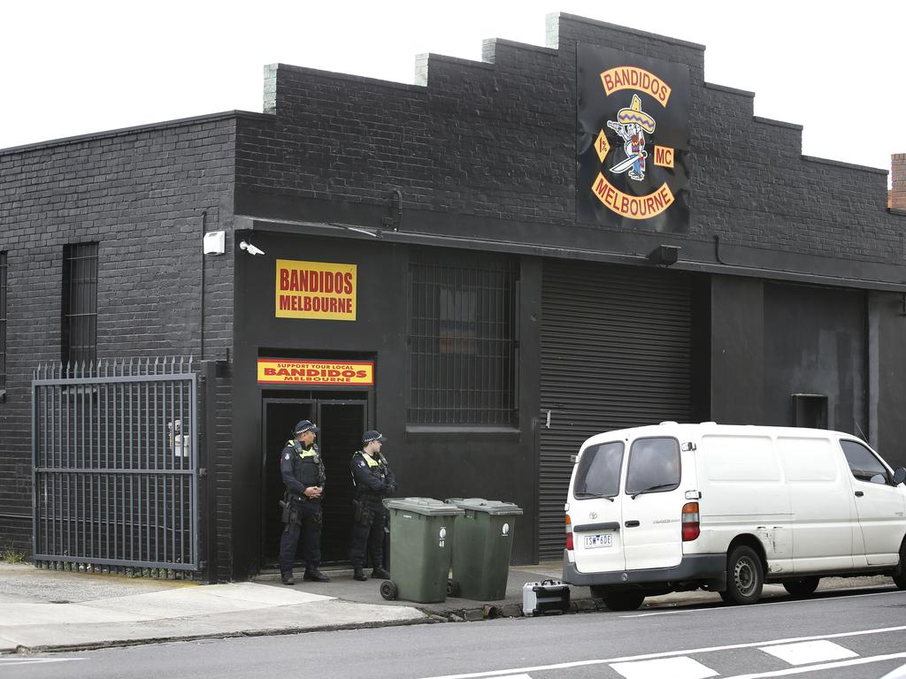 Bandidos Clubhouse Raid in Weston street Brunswick. Picture: David Caird