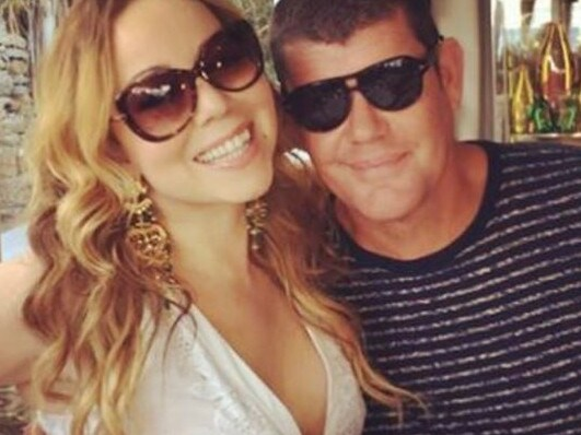 Mariah Carey and James Packer in Mykonos, Greece, where it's understood their relationship broke down. Picture: Mariah Carey/Instagram