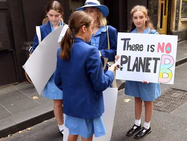 The world is on fire — school kids know. Why don't we all? Picture: William West/AFP