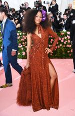 Zoe Saldana attends The 2019 Met Gala Celebrating Camp: Notes on Fashion at Metropolitan Museum of Art on May 06, 2019 in New York City. (Photo by Dimitrios Kambouris/Getty Images for The Met Museum/Vogue)