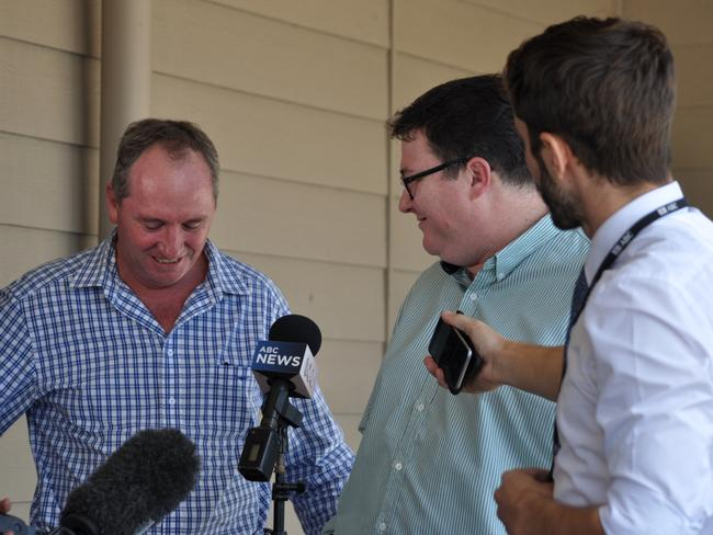 Deputy Prime Minister Barnaby Joyce and Member for Dawson George Christensen. Picture: Supplied