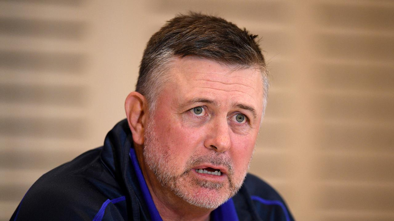 Bulldogs coach Dean Pay could be sacked before the season ends. (AAP Image/Dan Himbrechts)