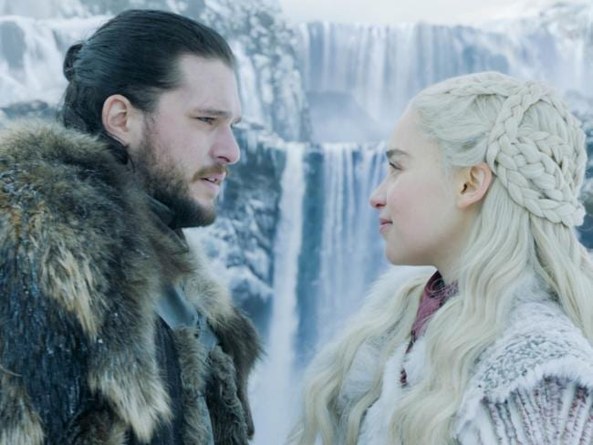 Kit Harington as Jon Snow and Emilia Clarke as Daenerys Targaryen. Picture: HBO