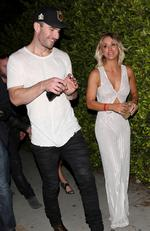 Kaley Cuoco and country singer Sam Hunt step out together after attending a Grammy Awards after party at Hyde Sunset in West Hollywood. Picture: BackGrid