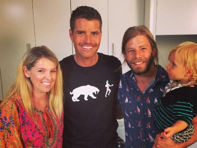 Pete evans baby paleo cookbook bubba yum yum the paleo way for blogger charlotte carr with her husband wes carr second from right their baby forumfinder Images