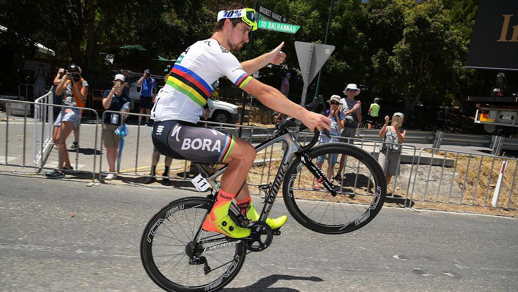 Peter Sagan has a unique celebration after winning stage 4 of the 2018 Tour  Down Under 382e4cddf