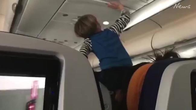 Child throws mega-tantrum during 8-hour flight