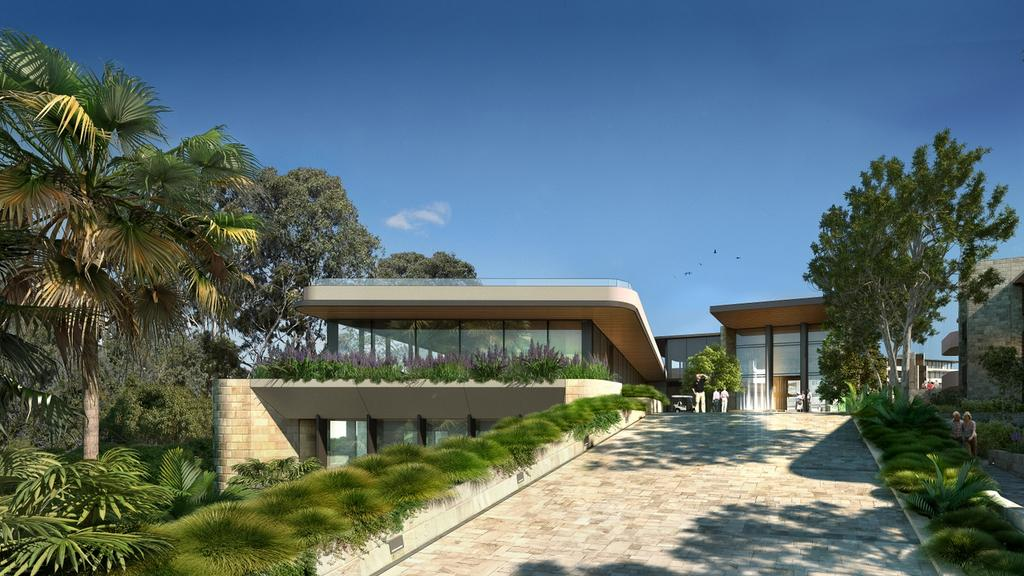 A computer-generated image of the entry to the proposed Waterbrook Bayview village. Picture; Supplied