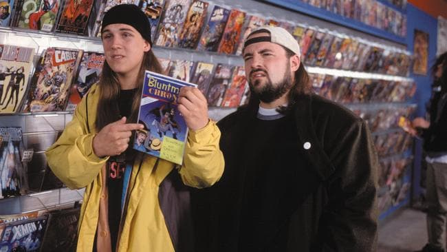 Jay and Silent Bob in 2001, younger but definitely not wiser