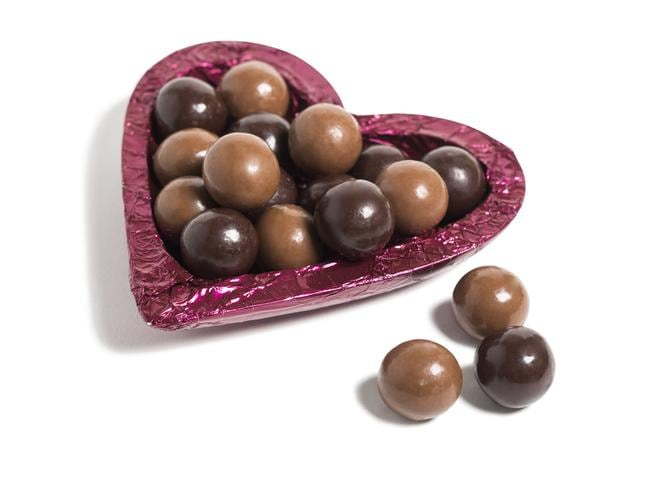 More cocoa, please ... Hopefully new methods of farming will mean that chocolates like these Haigh's ones will be given for Valentine's Day for years to come.