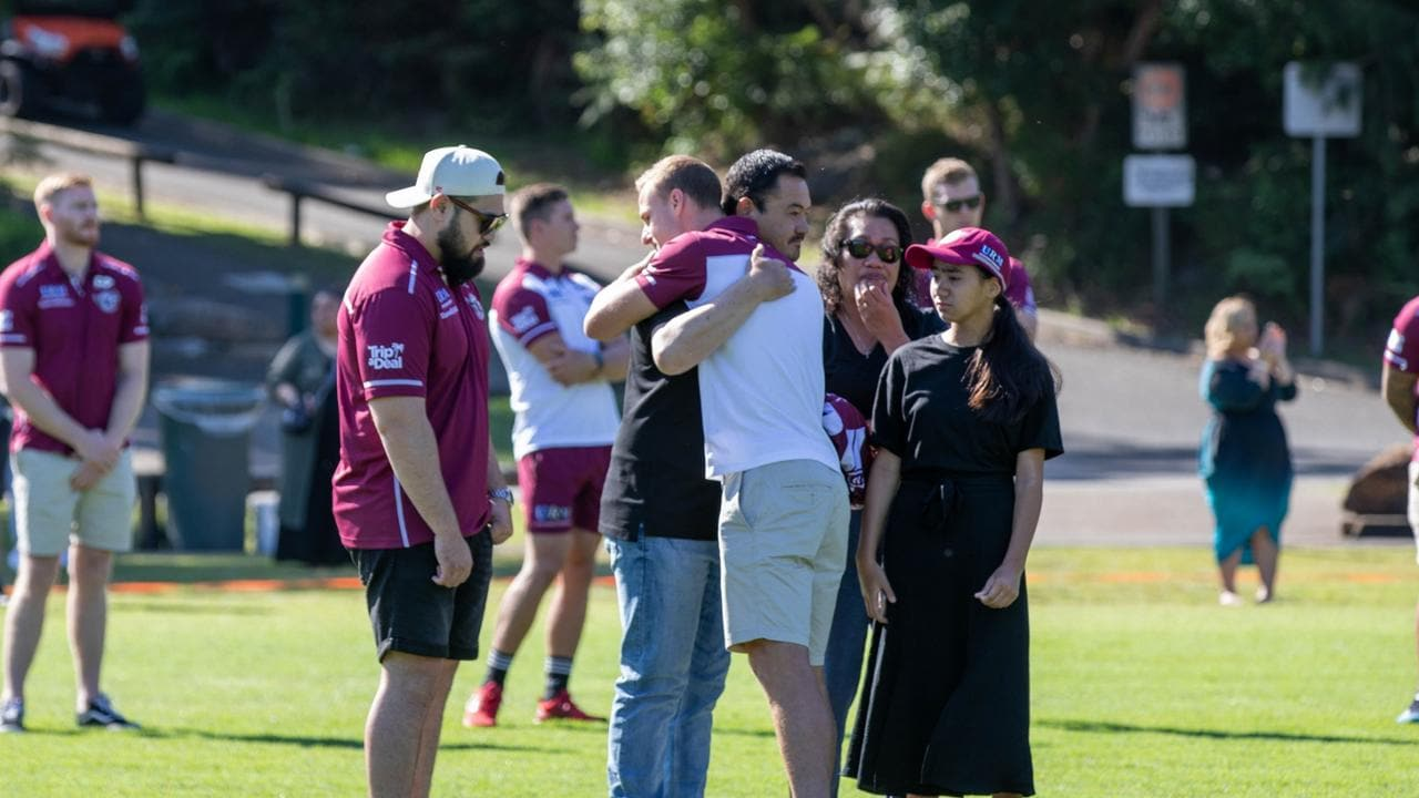 Manly Warringah Sea Eagles held a memorial for Keith Titmuss who passed away suddenly.