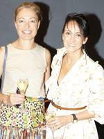 Sarah Kelly, of Lota, and Lisa O'Brien, of Sherwood, at the Y Women lunch for Youngcare. Picture: Just Photography