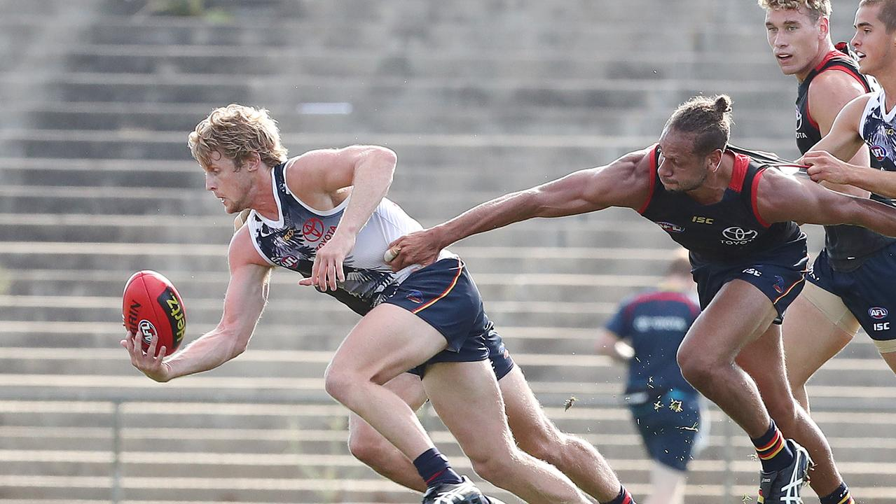 Rory Sloane and the Adelaide Crows could be training elsewhere toon. Picture: Dylan Coker