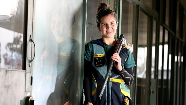Aislin Jones is Australia's youngest ever Olympic shooter. Picture: Tim Carrafa