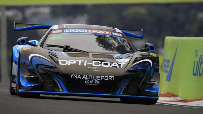 Scott McLaughlin aboard a McLaren during Bathurst 12 Hour practice.