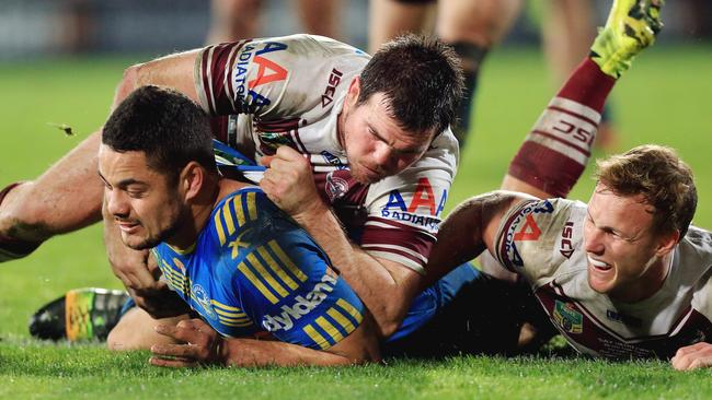 Jarryd Hayne has scored five tons in a row. Picture: Mark Evans