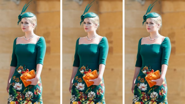 Lady Kitty Spencer captured international attention at Harry and Meghan's wedding. Source: Getty Images
