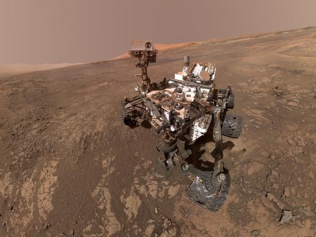 This composite image made from a series shows a self-portrait of NASA's Curiosity Mars rover on Vera Rubin Ridge. Picture: AP