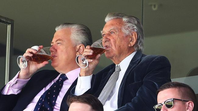 Former Australian prime minister Bob Hawke always enjoyed a cold one. Picture. Phil Hillyard