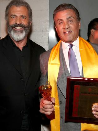 Mel Gibson and Sylvester Stallone.