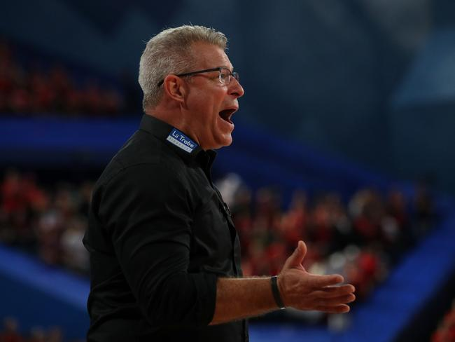 Head Coach of Melbourne United, Dean Vickerman reacts. Picture: AAP Image/Richard Wainwright