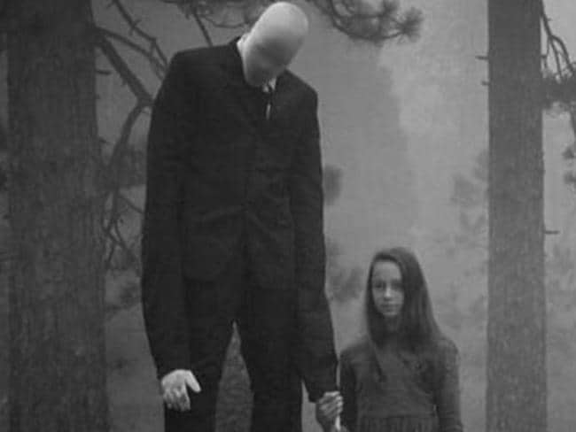 Creepy ... an artist's impression of Slenderman, the fictional character said to have inspired the stabbing attack. Credit: Imgur