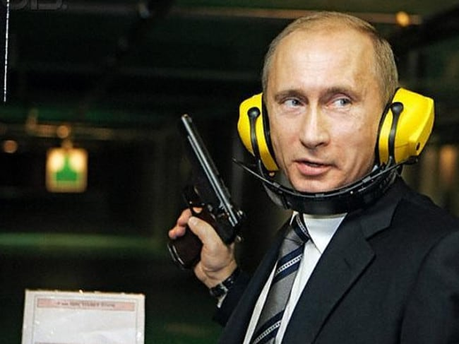 You've been warned: No guns allowed Putin. Image by © Astakhov Dmitri/ITAR-TASS/Corbis