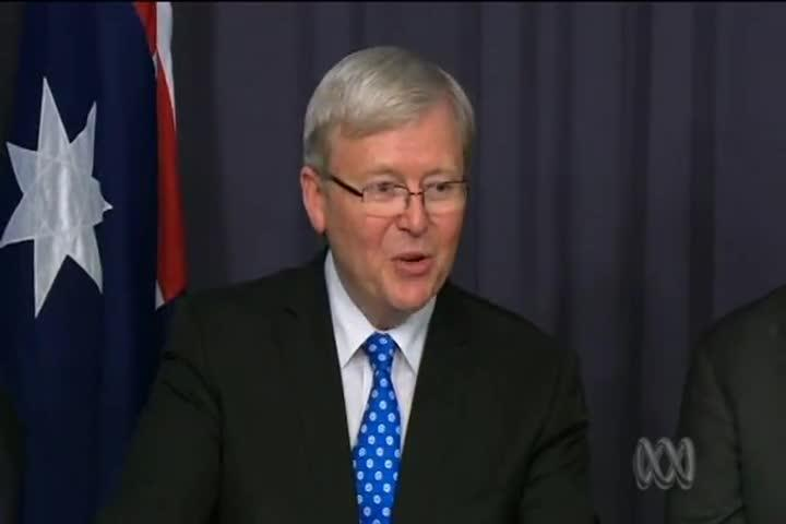 Kevin Rudd takes leadership 'with humility and energy'