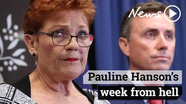 Pauline Hanson's week from hell