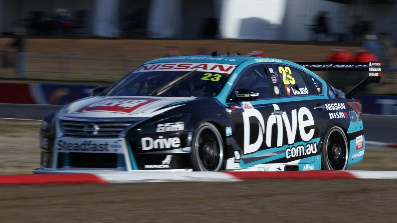 Michael Caruso pipped Rick Kelly for the top spot on Friday at Winton. Pic: Mark Horsburgh
