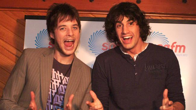 Hamish Blake and Andy Lee in 2006.