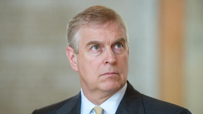 Britain's Prince Andrew, Duke of York, visits the Georg-August-University in Goettingen, western Germany in 2014. Picture: Swen Pfortner / AFP.