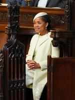 Doria Ragland takes her seat in St George's Chapel at Windsor Castle before the wedding of Prince Harry to Meghan Markle on May 19, 2018 in Windsor, England. Credit: Dominic Lipinski - WPA Pool/Getty Images