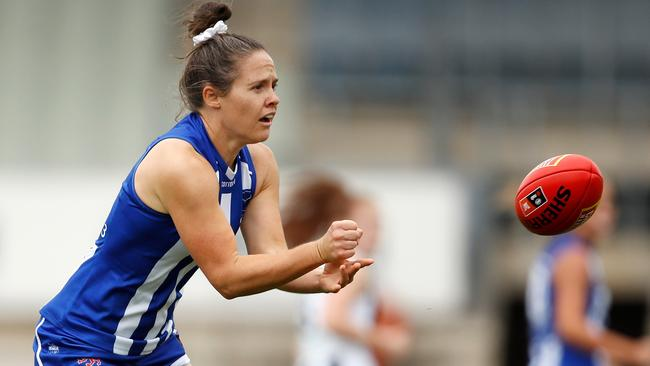 Emma Kearney was the best player on Ikon Park. Picture: AFL Photos via Getty Images