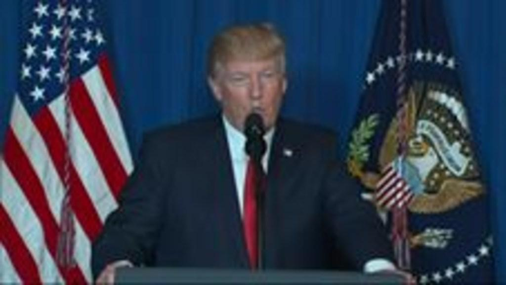 US: President Donald Trump Delivers Statement on Syria Cruise Missile Strike