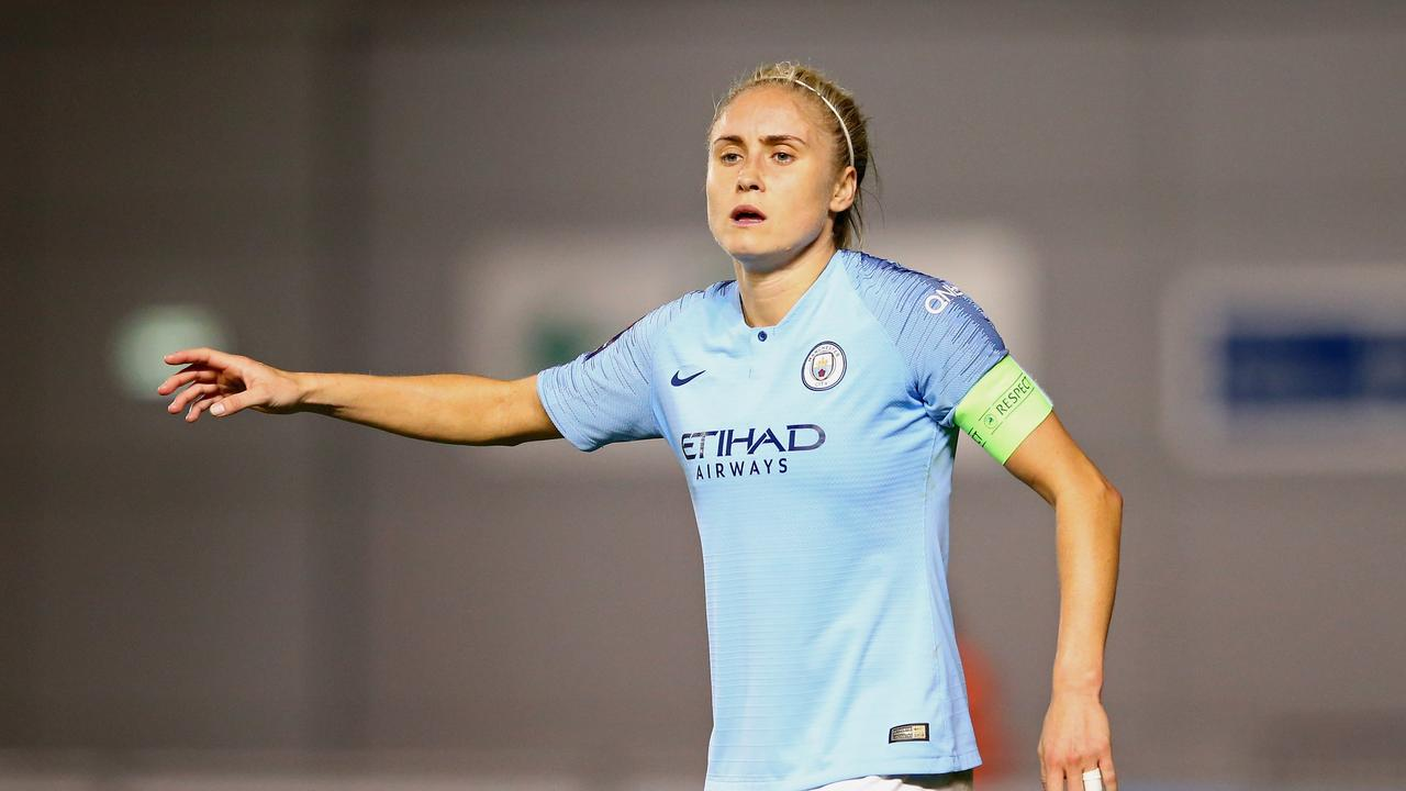 Manchester City and England captain Steph Houghton was involved in the incident.