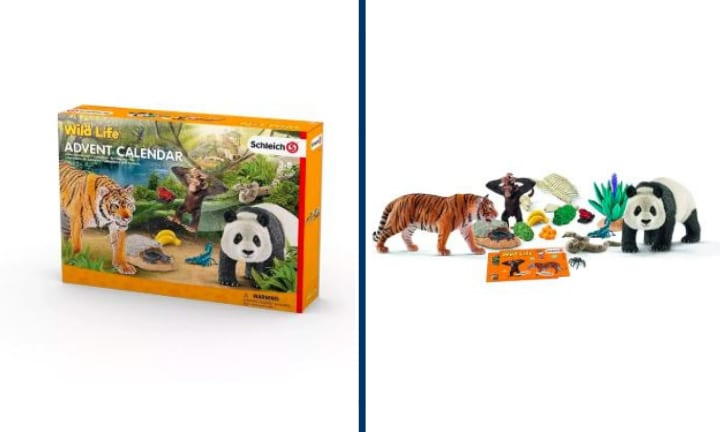 <b> Animals! </b> How about some cute little animal figures? Spend the months of December learning about the animal kingdom with the Schleich Advent calendar: Wild Life.